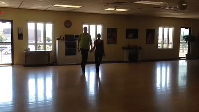 Kathy practicing after only 2 weeks of working on the Viennese Waltz