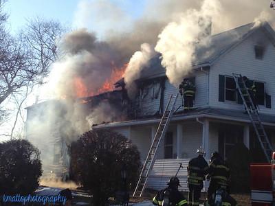 Structure Fire - 24 Sumitt St, Derby, CT - 3/24/15