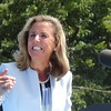 Katie McGinty At Hillary Clinton Campaign Rally With Barack Obama In Philadelphia, PA