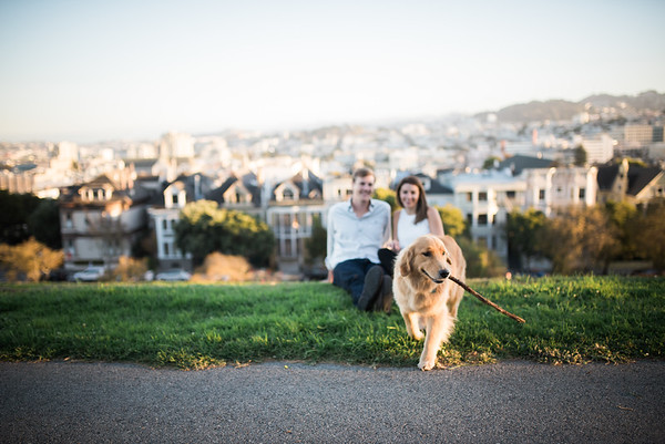 Katie and Morgan Engagement Color