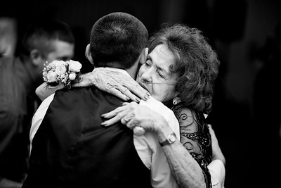 Tim dancing with his grandmother at their wedding. This was so special to him, his grandmother is very sick & she still built up the strength to stand up and dance with him