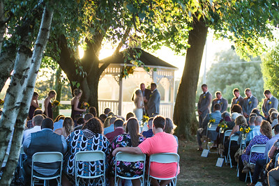 """Golden Hour"" Ceremony at Geneva Farms - Ashley & Ethan"