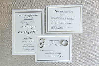 Andrea & Eric's Wedding Invitations & Rings