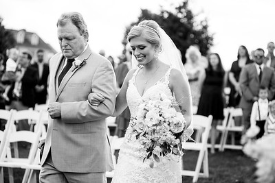 Even though Andrea's Dad was in a LOT of pain on her wedding day, he still walked her down the aisle on her wedding day