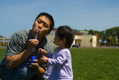 May 20, 2007 - Katie blowing bubbles