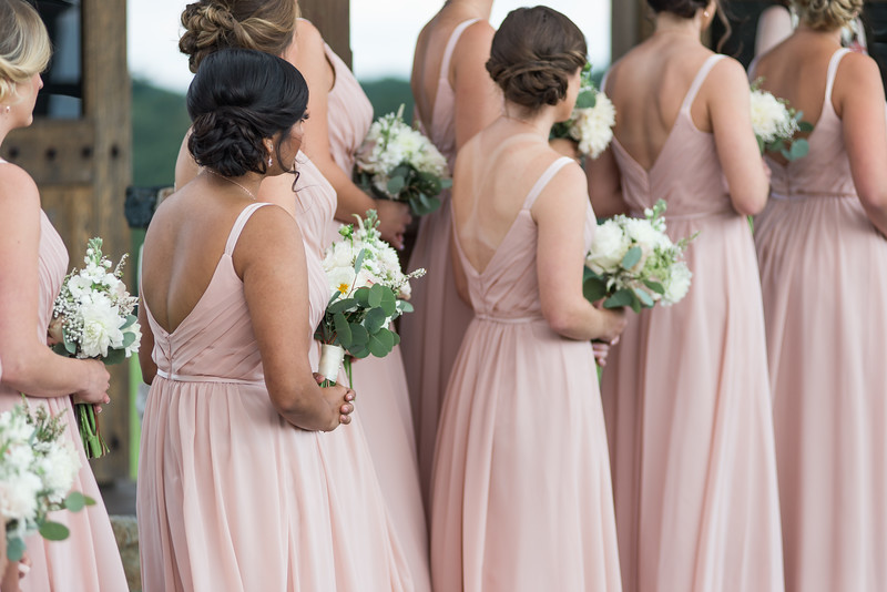 "@ Fosters Flowers - pretty bridesmaids all ""in the moment"" at andrea & erics wedding"