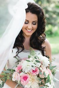 Tawney, fun veil bridal portrait