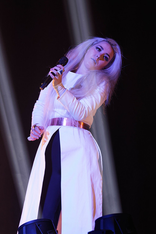 . Purity Ring live at Little Caesars Arena in Detroit, Michigan 12-6-2017. Photo credit: Ken Settle