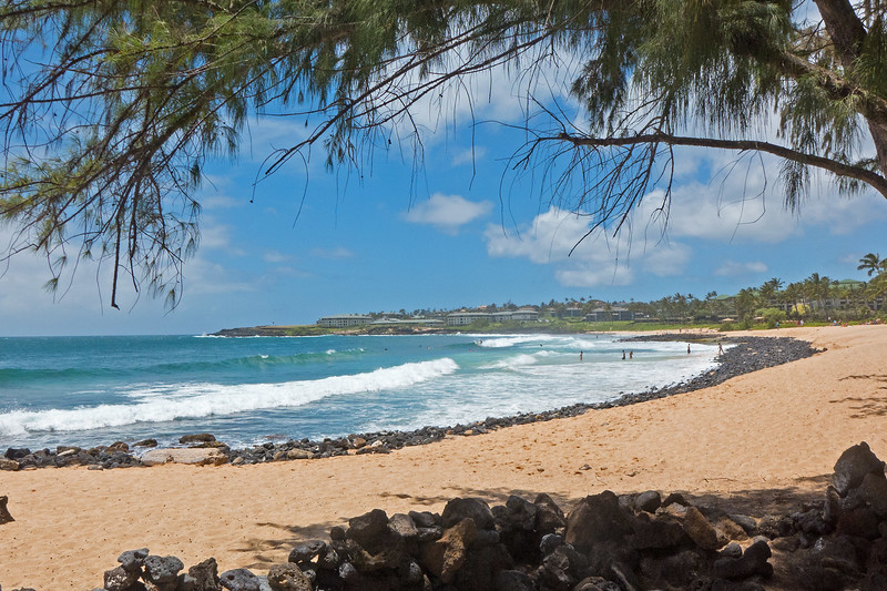 """We were staying in Poipu on the south shore, where the weather as usual was nonetheless quite sunny. On our first morning- we set out eastwards along the coast from Shipwreck beach. I don't know if it was from the recent storm, but the beach had lost a lot of sand, compared to our first visit in 2013:<br /> <a href=""""https://photos.smugmug.com/Kauai/i-Xpt56ZM/0/efcd8692/O/ShipwreckBeach2013.jpg"""">https://photos.smugmug.com/Kauai/i-Xpt56ZM/0/efcd8692/O/ShipwreckBeach2013.jpg</a>"""