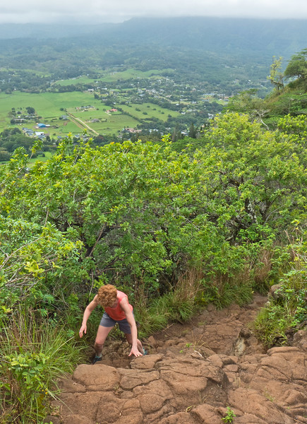 """On the way home from Anini we hiked from Waimea, up to the """"Sleeping  Giant"""" ."""