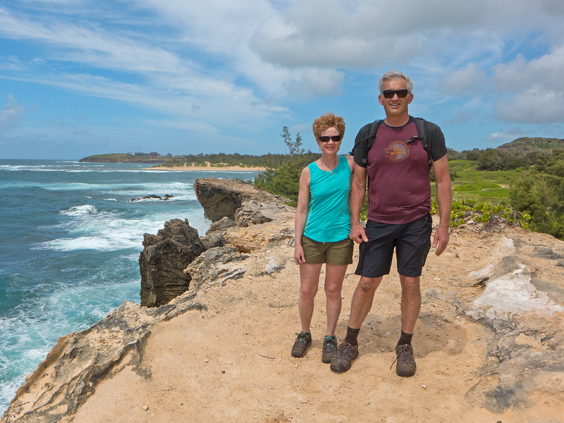 A return to Kauai in late April 2018. Recent intense storms had flooded out much of the north and west ends of the island, leaving behind closed roads and murky beaches on that side, and unsettled conditions for our visit.