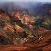 Panoramic view of Waimea Canyon, Kauai, Hawaii