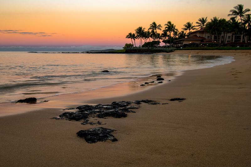 Sunrise At Poipu Beach In Kauai, Hawaii