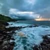 Stormy day in Princeville shore, Kauai, Hawaii