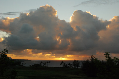 Sunsets and sky from the Kilauea lighthouse road