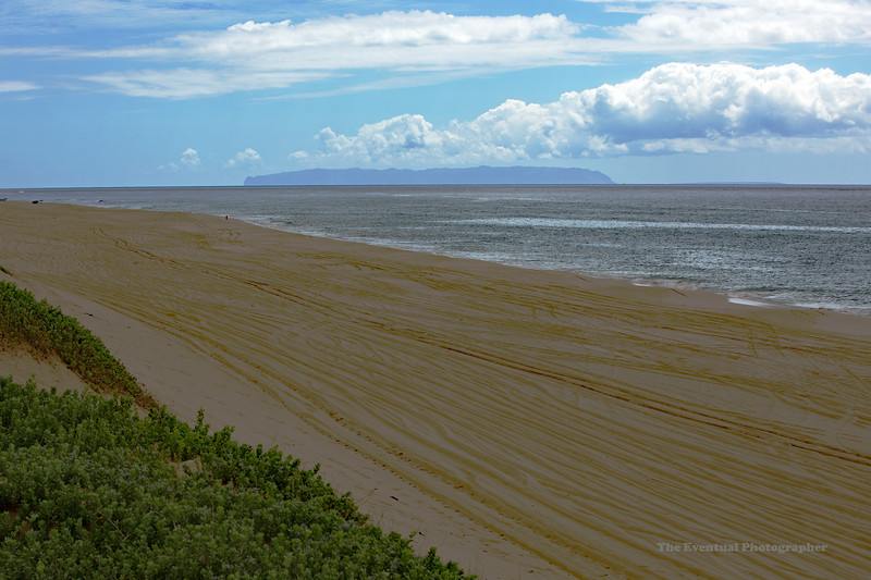 Polihale Beach Wide With NiIhau (5570) Marked