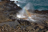 Spouting Horn Closeup With Rainbow (5266) Marked