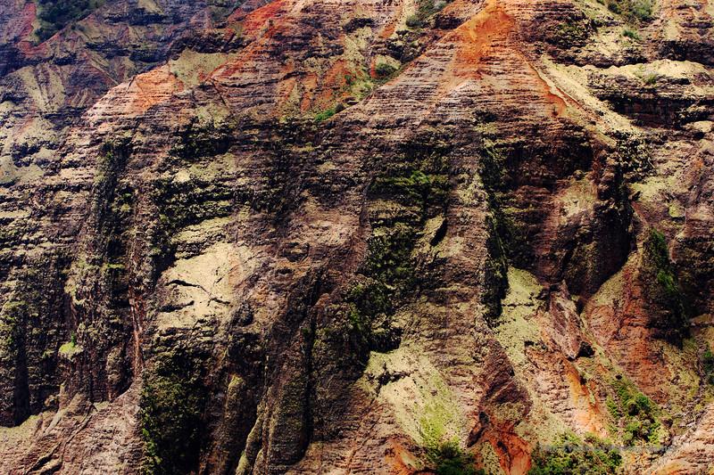 Waimea Canyon Rock Face High Contrast (5529) Marked