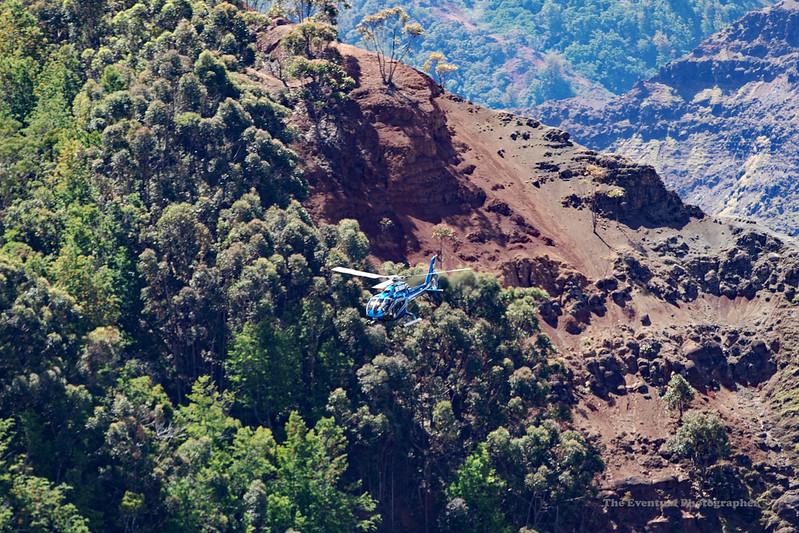 Waimea Canyon Distant Copter Shot (5471) Marked