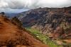 Waimea Canyon Rock Face With Ocean (5537) Marked
