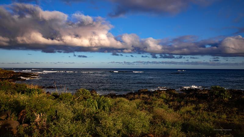 Poipu Beach Volanic Coastline 16x9 (5142) Marked