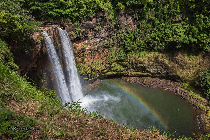 Wailua Falls with Rainbow