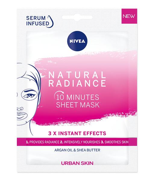 3219099 NIVEA 10-minuti kangasmask Urban Skin loomulikku sära pakkuv 1tk 82396 9005800315492