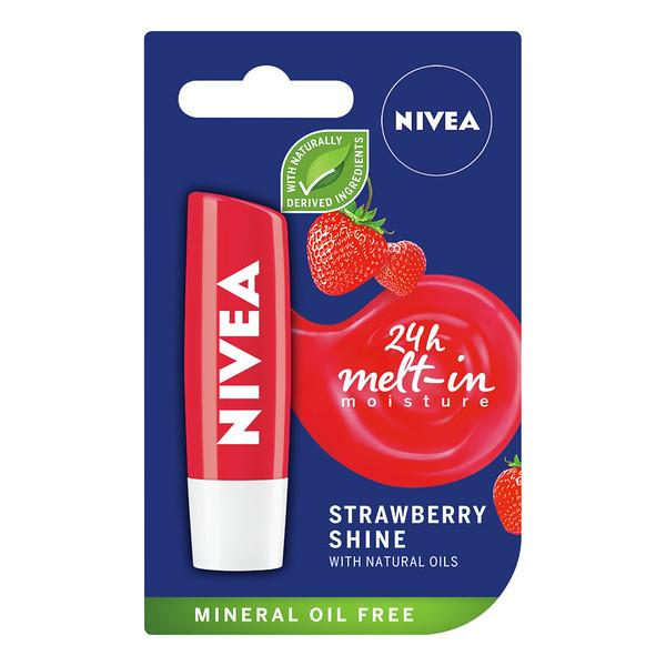 3222899 NIVEA Hüg. huulep. Strawberry Shine 5,5ml 85083 4005808369867