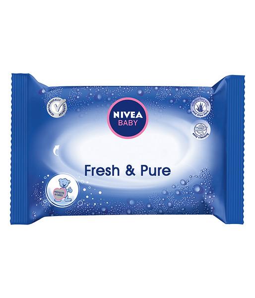 3202299 NIVEA Baby Fresh & Pure niisked salvrätid 63tk 86247 4005808862474