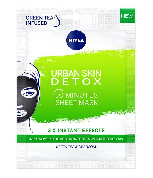 3218999 NIVEA 10-minuti kangasmask Urban Skin Detox 1tk 81265 9005800315508