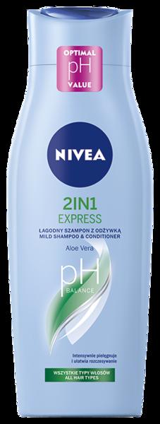 372699 NIVEA Šampoon 2in1 EXPRESS 400 ml 81432 9005800223261