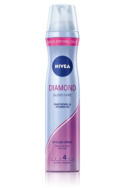 335899NIVEA Juukselakk Diamond Gloss Care 250ml 86808 4005808292752