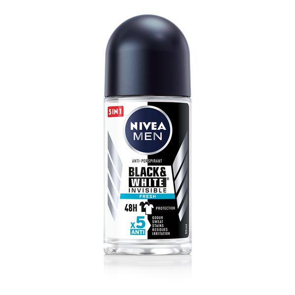 3202499NIVEA  Roll Power Black & White Fresh meestele 50 ml 8597042349778