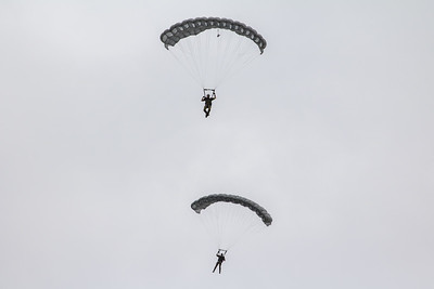 More parachuting going on
