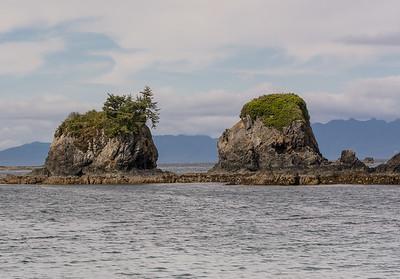 sea stacks on Spring Island