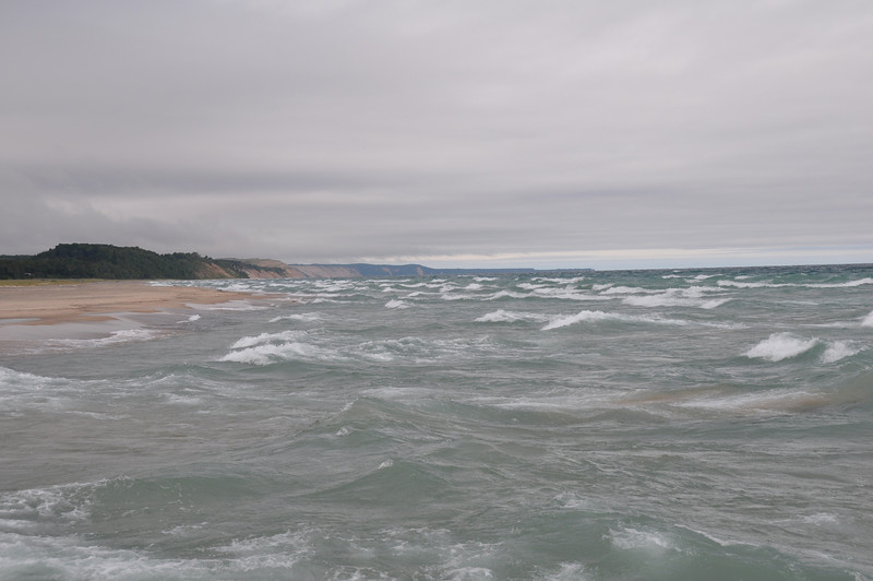 Lake Superior rollin' with the Au Sable Dunes in the background.