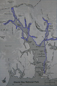 Map showing 22 day route