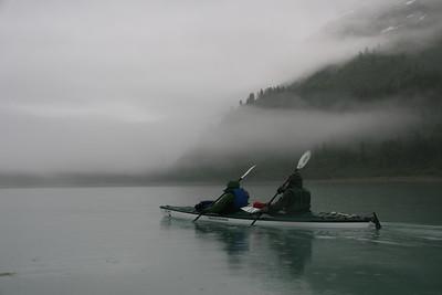 Misty Morning in Adams Inlet.