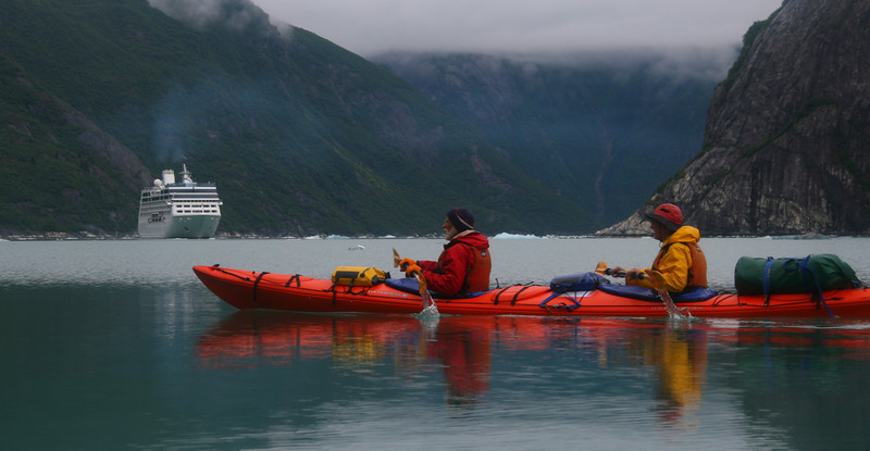 Several Cruise ships a day come into Tracy Arm. They don't cause us any problems.