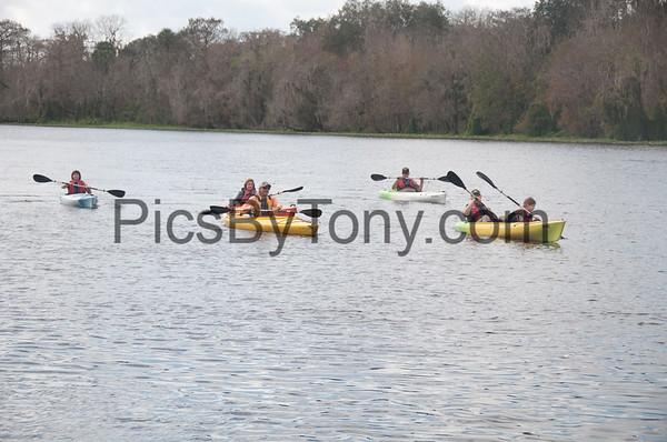 Kayakers in Blue Spring Park on Jan  16. , 2016