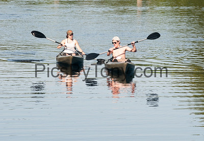 Kayakers in Blue Spring Park on June 26, 2016