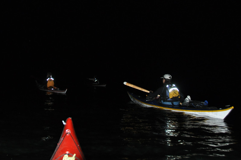 NIght crossing to Lighthouse Bay on Sand Island.