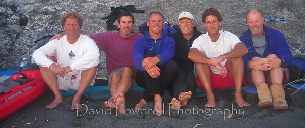 Derek, Phil, Dave, Rob, Mark and John.  Shelter Cove.