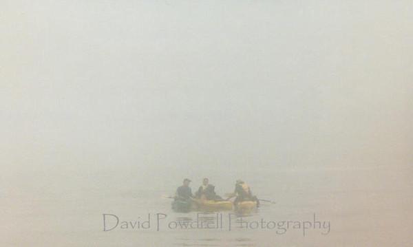 Dense fog while crossing San Francisco Bay at 7:00 a.m.