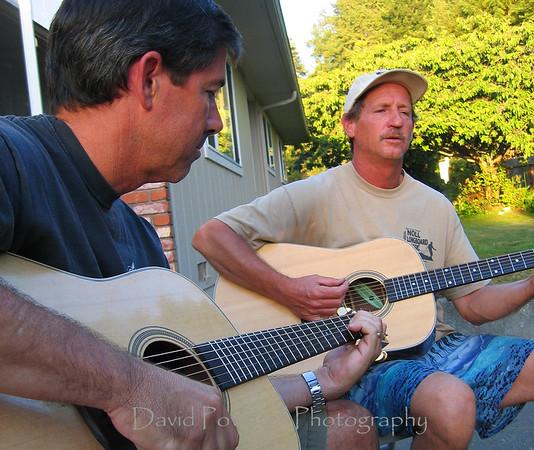 Phil and Doug at Doug's house.