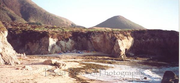 Camping at Bonny Doon Beach near Santa Cruz.