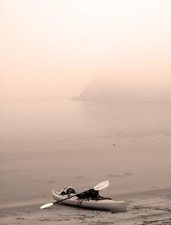 Morro Bay fog before sunrise.