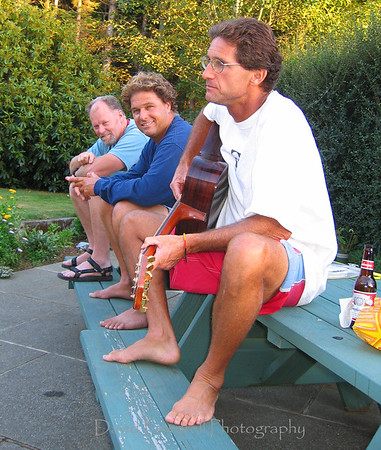 Jam session's were a regular thing at Doug's house playing his incredible handmade guitars, inlayed with handpicked abalone.