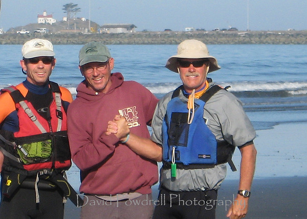 Lee, Dave and Rob.  Crescent City Beach.