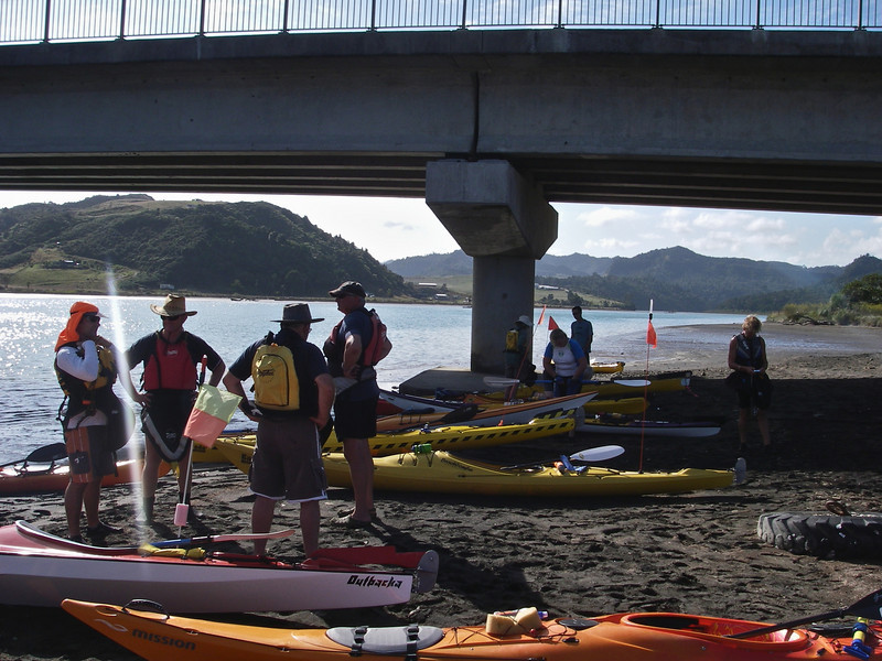 Getting ready to leave Mokau Bridge